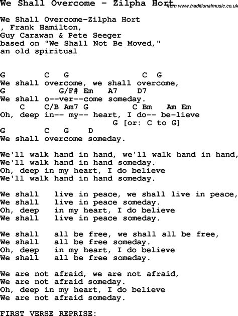 We Shall Overcome Guitar Chords