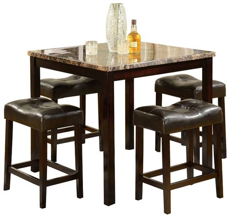 High Dining Table Stools by High Top Table Sets To Create An Entertaining Dining Space