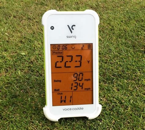 golf swing speed device voice caddie swing caddie sc100 golf practice aid review