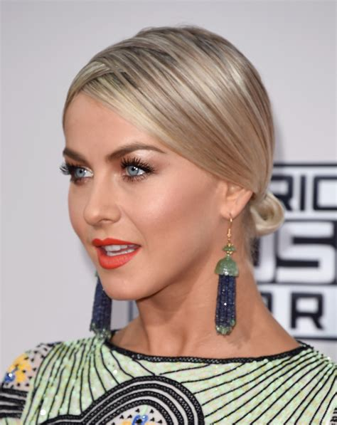 straight black hair pulled back in bun pulled back bun pinterest hair julianne hough s most