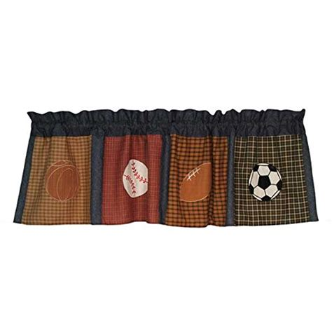Sports Window Valance pem america classic sports window valance in plaid with denim and clay in the uae see prices