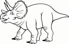 triceratops dibujo dinosaurios