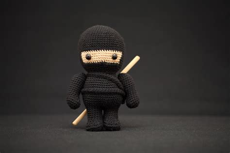 ninja amigurumi pattern the black ninja amigurumi fat face me