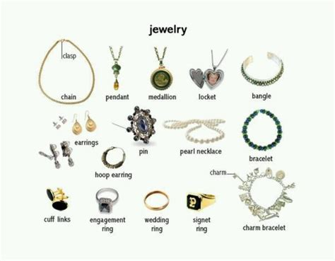 Jewelry vocabulary in English   z ESL   Pinterest   English, Vocabulary in english and Jewelry
