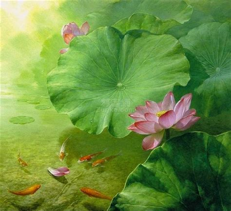 15 beautiful lotus paintings by artist jiang debin