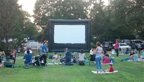 outdoor movie long island inflatable movie screens