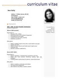 Curriculum Vitae For Doctors by Cv Template Ann Kelly