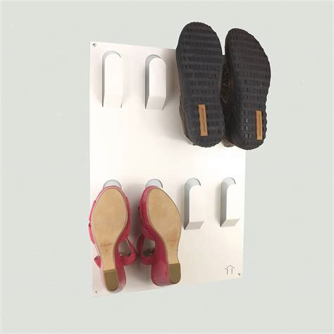 shoe hooks storage unique wall mounted shoe rack by the metal house limited