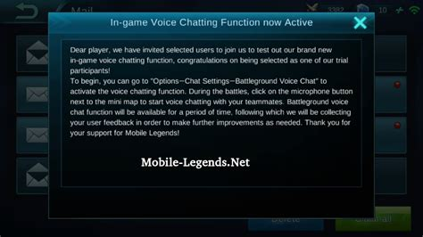 Ml Players Mobile Legends in voice chatting active 2018 mobile legends
