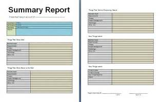free summary report template free report templates
