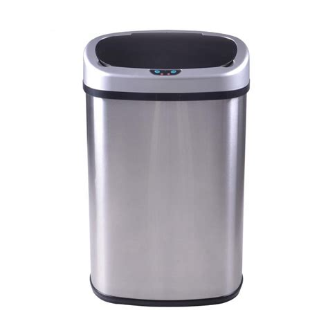 Kitchen Trash Can 13 Gallon by New Silver 13 Gallon Touch Free Sensor Automatic Trash Can