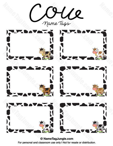 printable horse name tags printable cow name tags
