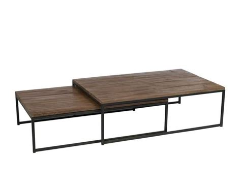 Table De Salon Gigogne 1243 by Table Basse Gigogne En M 233 Tal Et Bois Jolipa