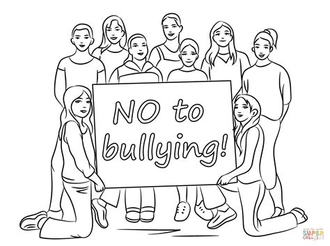 No Bullying Allowed Coloring Pages Coloring Pages Bullying Coloring Pages