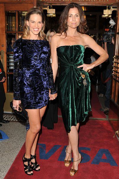 Lg Hilarry Reddress Wanitadress Fashion tiff poll minnie driver and hilary swank in velvet who wore it best fashion magazine