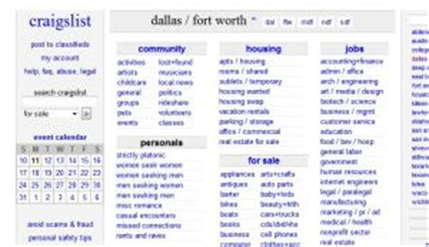 craigslist dallas fort worth craigs list dallas classified