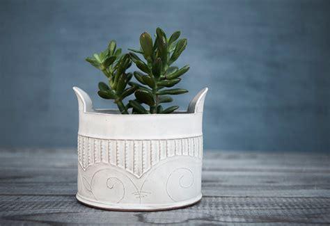 White Ceramic Planters by Ceramic Planter White Ceramic Vase White Modern Planter