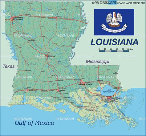 louisiana on the map of usa map of louisiana new orleans united states map in the