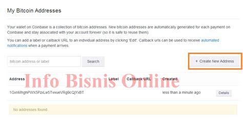 cara membuat wallet address bitcoin cara membuat wallet bitcoin coinbase belajar bisnis bitcoin