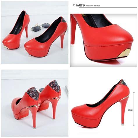 Sepatu Heel Cantik jual shh698 sepatu heels cantik 10cm