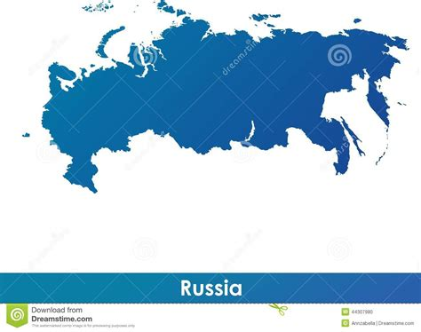 russia map black and white map of russia stock vector image 44307980