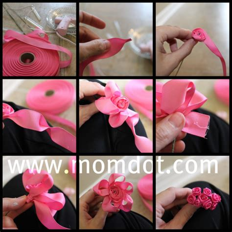 How To Make A Paper Ribbon Flower - how to make a ribbon rosette tutorial