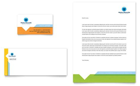 security templates home security systems business card letterhead template
