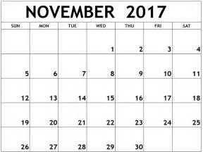 Calendar 2017 November And December Excel Calendar November 2017 Blank Calendar And Images