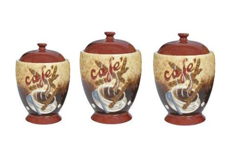 themed kitchen canisters cafe latte canister sets coffee themed kitchen canister
