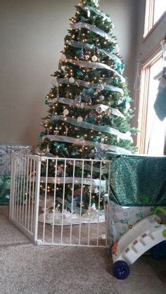 christmas tree gates for babies a small decorative picket fence around the tree helps keep the family pets away from