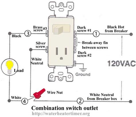 wiring diagrams for light switch and outlet how to wire switches combination switch outlet light fixture turn outlet into switch outlet