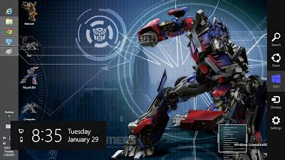 robot themes for windows 8 1 transformers prime theme for windows 8 ouo themes