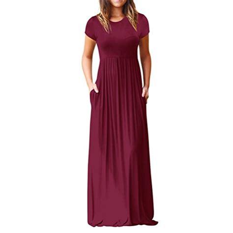 poseshe women short sleeve loose plain casual  size
