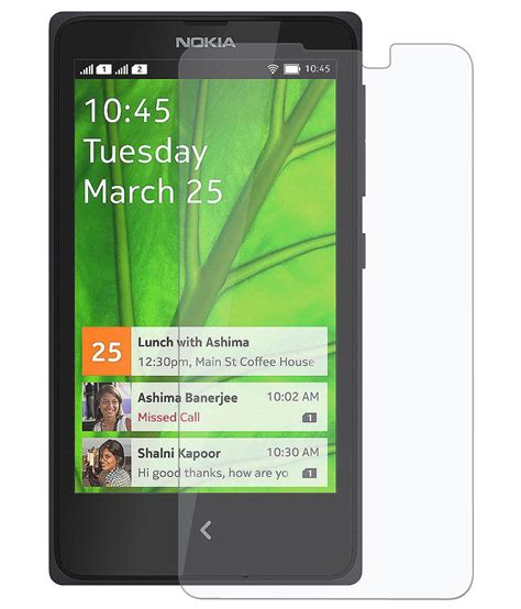 Tempered Glass Nokia X nokia x tempered glass screen guard by amzer buy nokia x