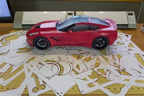 Origami Sports Car - papercraft sports car all