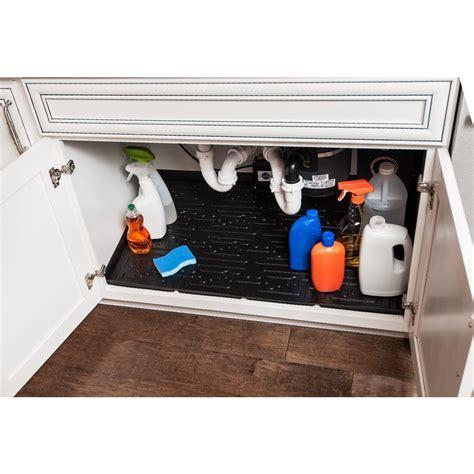 Xtreme Mats Black Bathroom Vanity Depth Under Sink Cabinet