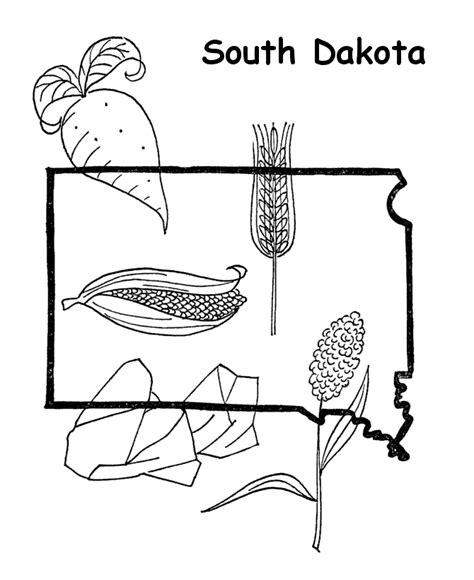 South Dakota Coloring Pages