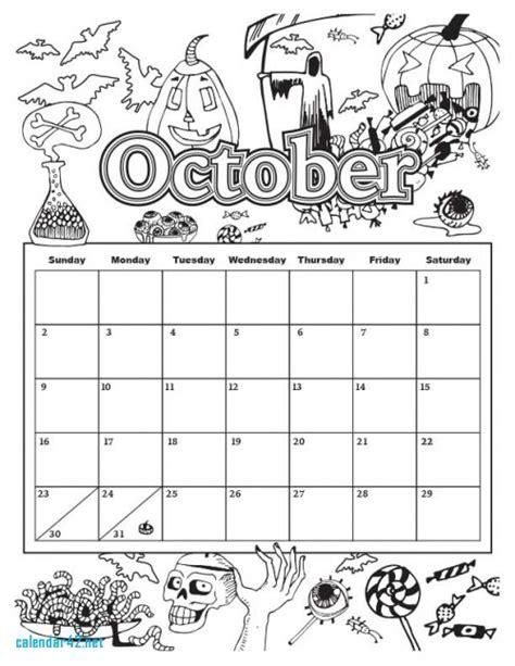 printable calendar education world 94 education world october coloring calendar