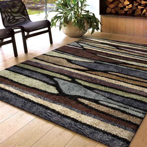 1 pile area rugs high pile 1 5 quot area rug plush shag modern 5 3 quot x 7 6