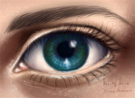 Digital Drawing Free Blue Eye Digital By Krinna On Deviantart