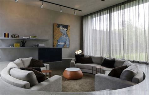 sunken couch modern pits living room design