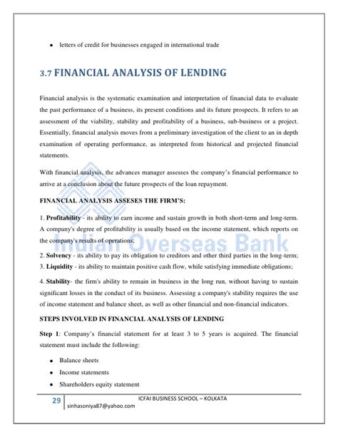 Formal Credit Report Indian Overseas Bank Sip Report Loans And Advances Management