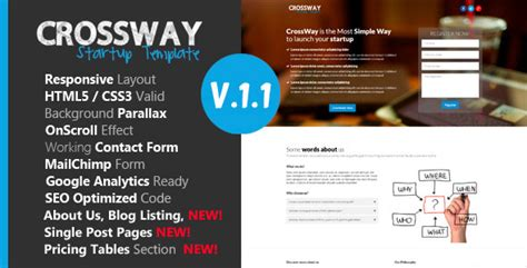 themeforest video landing page crossway startup landing page template by dsathemes