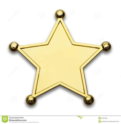 printable star badges sheriff badge stock image image of metal blank number