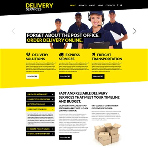 templates for courier website delivery services website templates