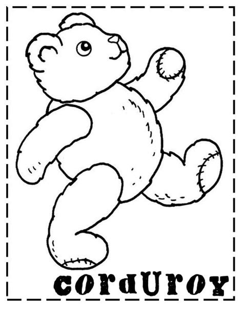 pocket for corduroy coloring page coloring pages