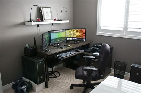 gaming office setup show your lcd s setups page 1064 h ard forum