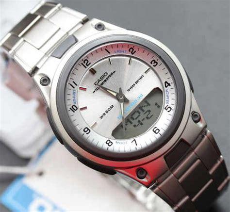 Jam Tangan Casio Aw 80d 1avdf Pria Dual Time Silver Black Original 1 d silver and originals on