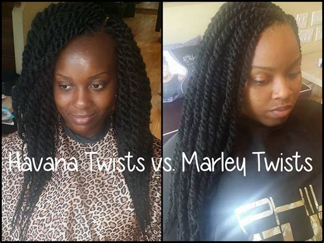 marley hair vs kanekalon hair havana twists vs marley twists youtube