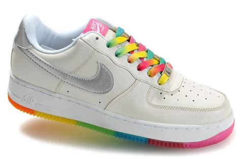 colorful air forces rainbow nike air forces colorful sneakers for silver